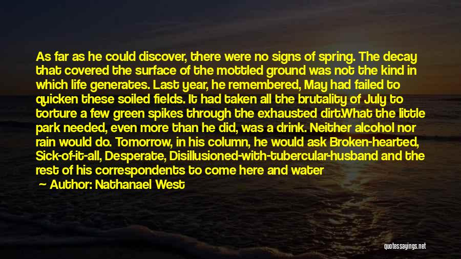 How Much I Miss My Husband Quotes By Nathanael West