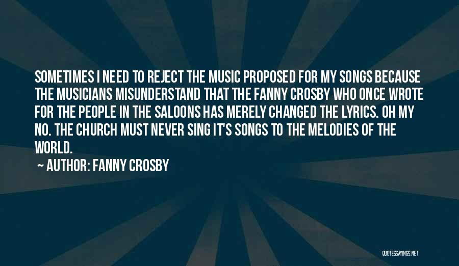 How Music Changed The World Quotes By Fanny Crosby