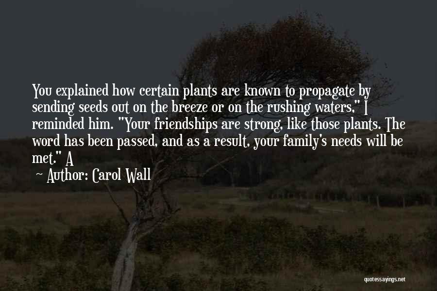 How Strong You Are Quotes By Carol Wall