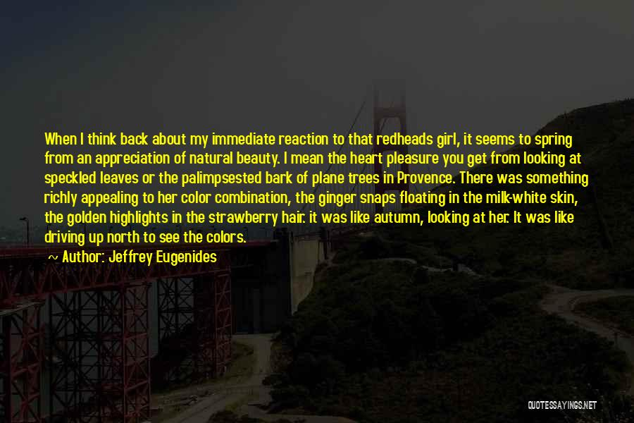 How To Get Over A Girl Quotes By Jeffrey Eugenides