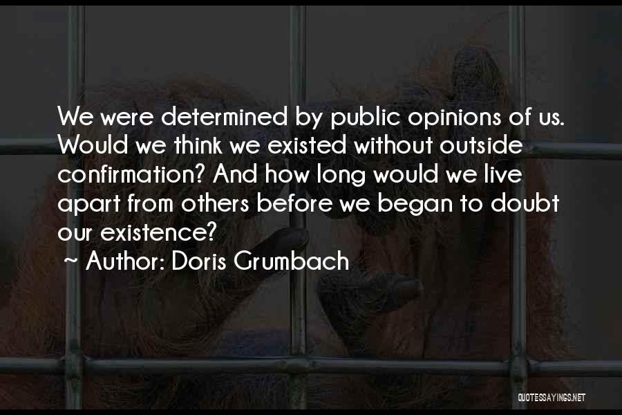 How To Live Quotes By Doris Grumbach