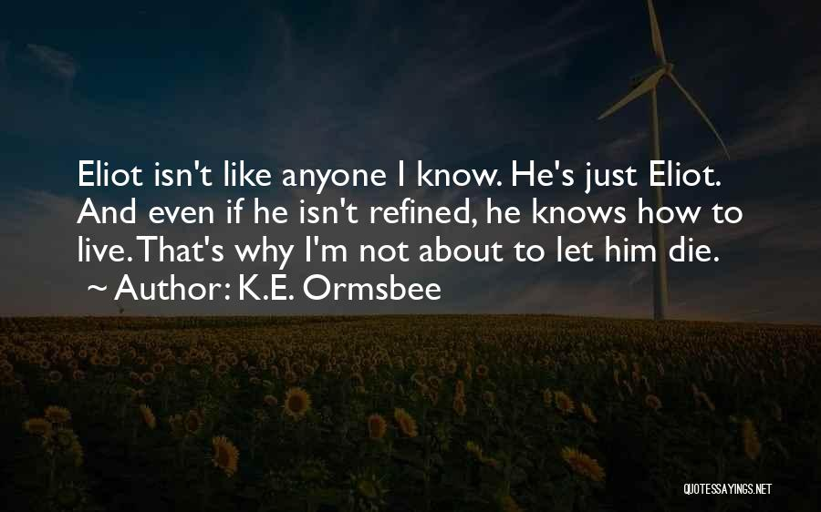 How To Live Quotes By K.E. Ormsbee