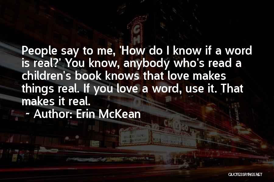 How To Love Book Quotes By Erin McKean
