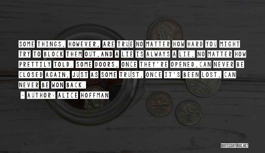 How Trust Is Hard Quotes By Alice Hoffman