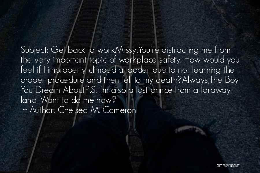 How You Feel About A Boy Quotes By Chelsea M. Cameron