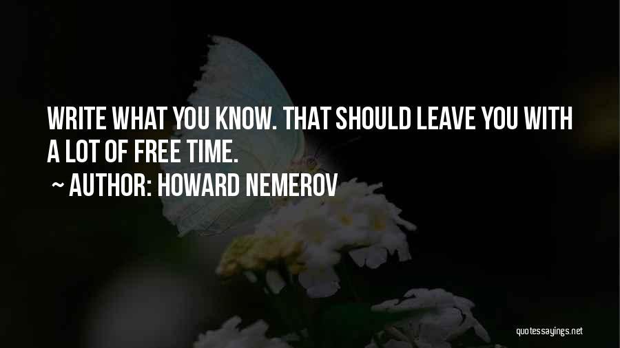 Howard Nemerov Quotes 1702814
