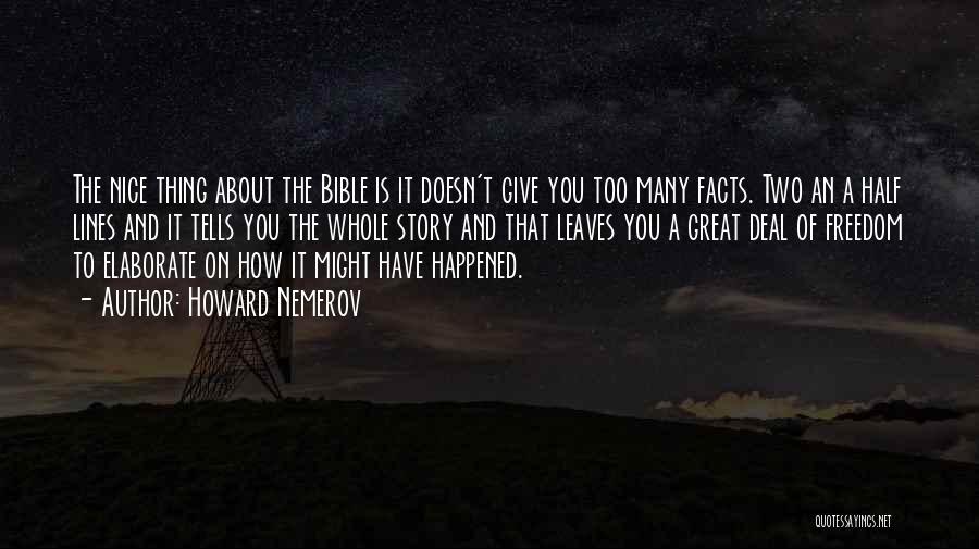 Howard Nemerov Quotes 2168998