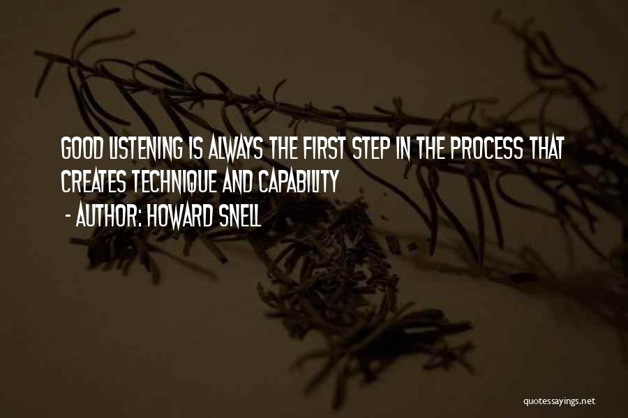 Howard Snell Quotes 86596