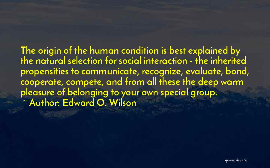 Human-environment Interaction Quotes By Edward O. Wilson