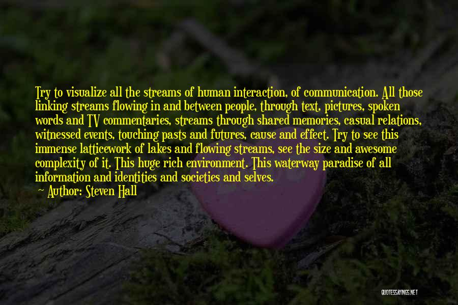 Human-environment Interaction Quotes By Steven Hall