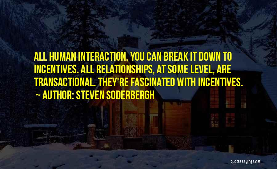 Human-environment Interaction Quotes By Steven Soderbergh