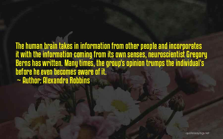 Human Perception Quotes By Alexandra Robbins