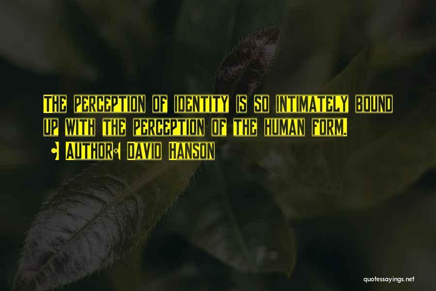 Human Perception Quotes By David Hanson