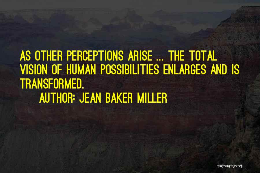 Human Perception Quotes By Jean Baker Miller
