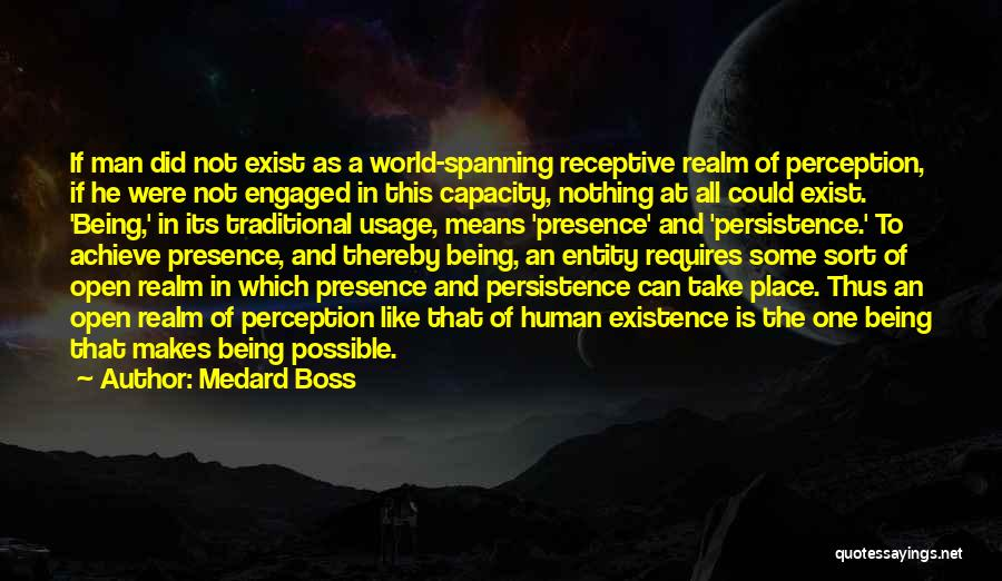 Human Perception Quotes By Medard Boss