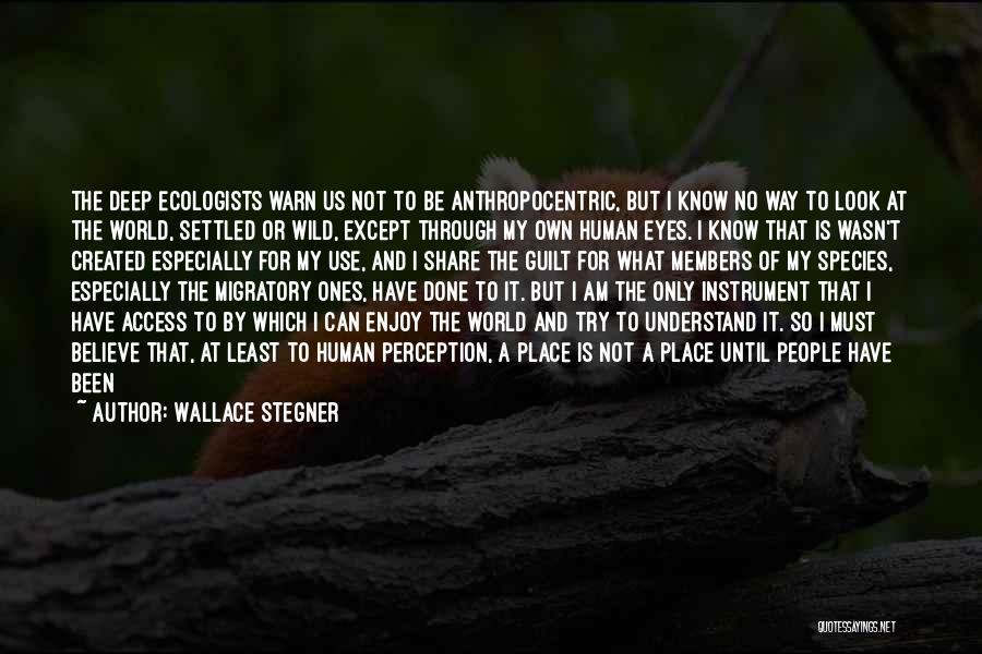 Human Perception Quotes By Wallace Stegner