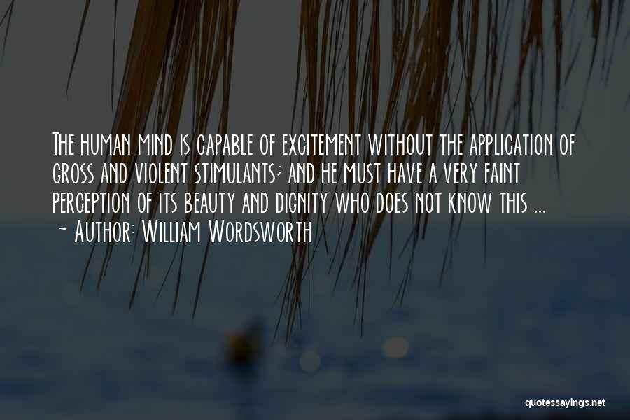 Human Perception Quotes By William Wordsworth