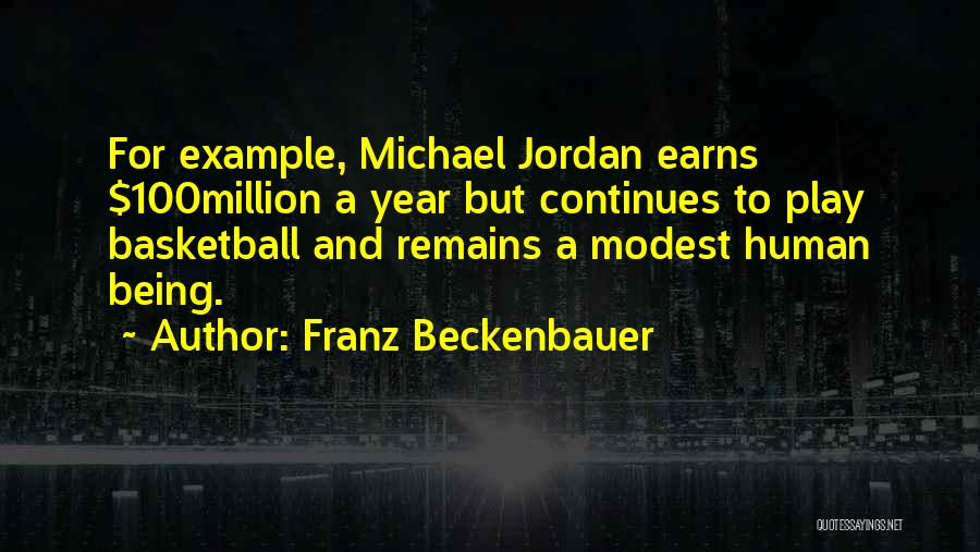 Human Remains Quotes By Franz Beckenbauer