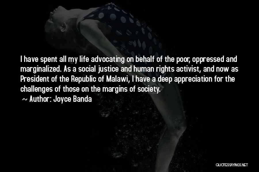 Human Rights Activist Quotes By Joyce Banda