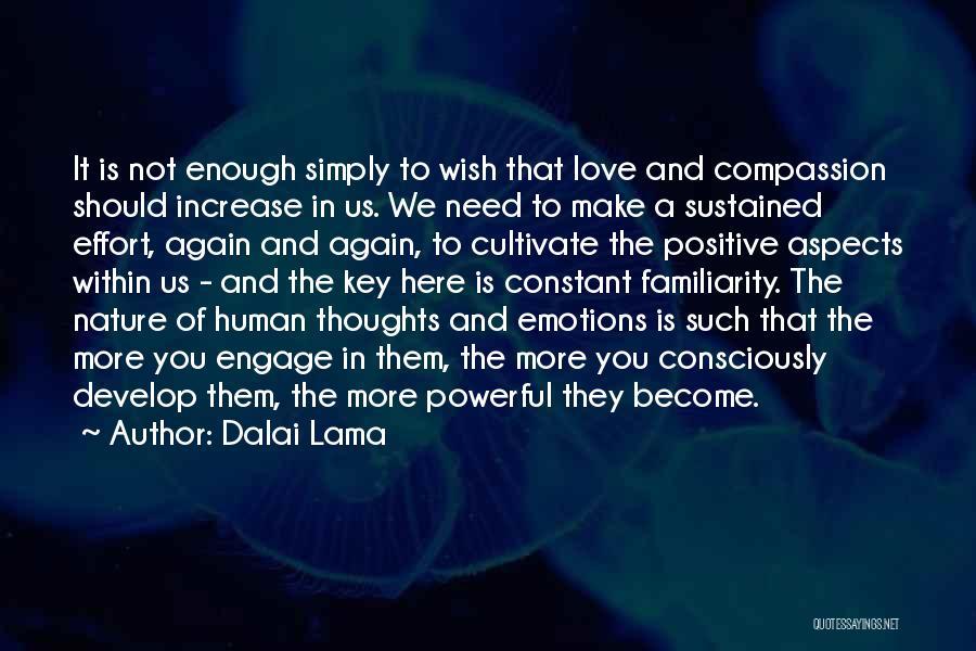 Human Thoughts Quotes By Dalai Lama