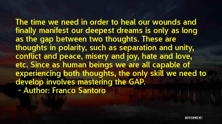 Human Thoughts Quotes By Franco Santoro