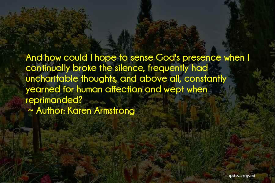 Human Thoughts Quotes By Karen Armstrong