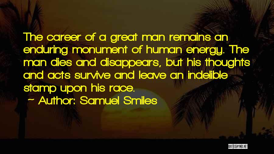 Human Thoughts Quotes By Samuel Smiles