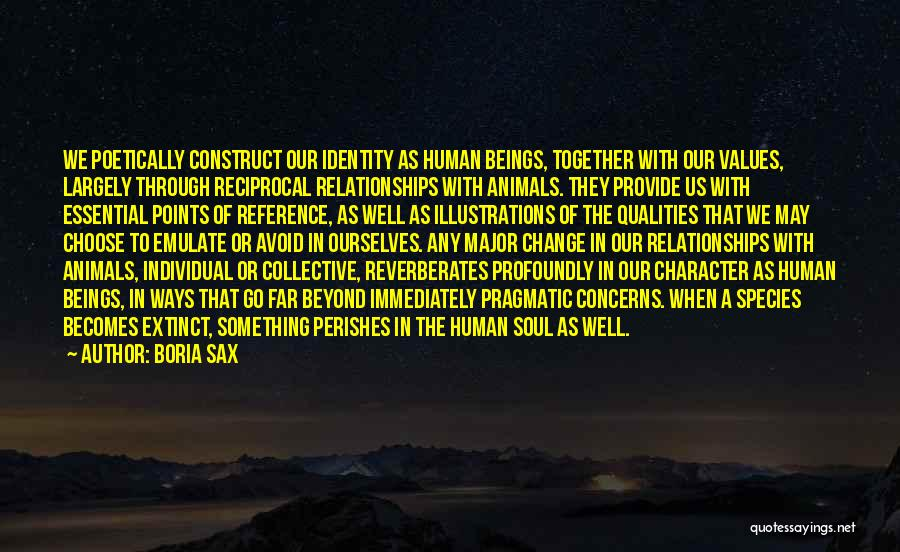Human Values Quotes By Boria Sax