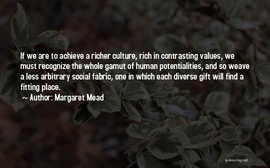 Human Values Quotes By Margaret Mead