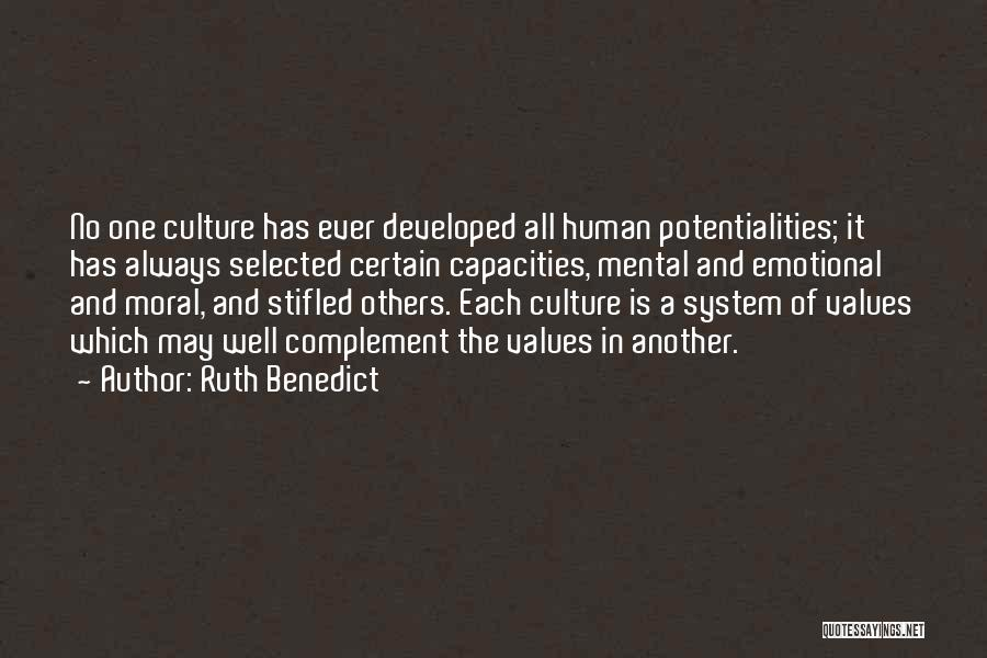 Human Values Quotes By Ruth Benedict