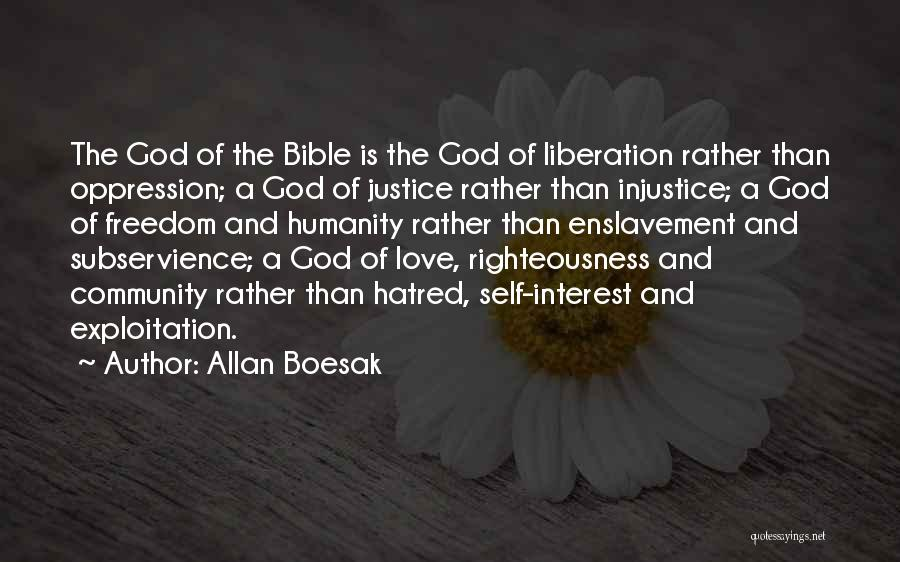 Humanity And Love Quotes By Allan Boesak