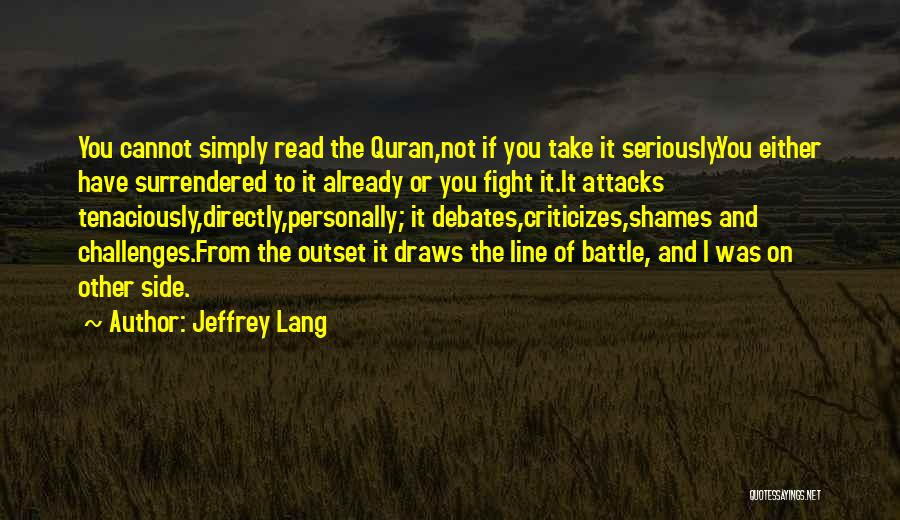 Humanity And Love Quotes By Jeffrey Lang