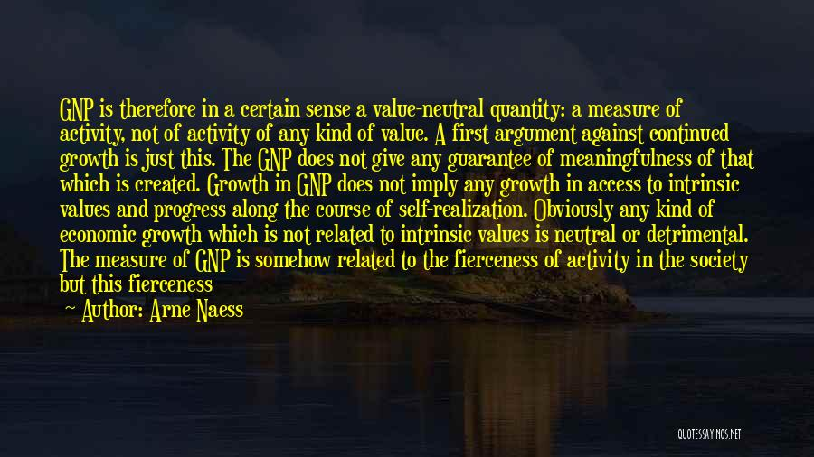 Humanity And Society Quotes By Arne Naess