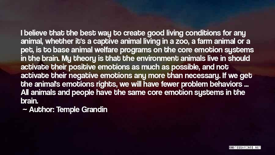 Humans And Animals Quotes By Temple Grandin