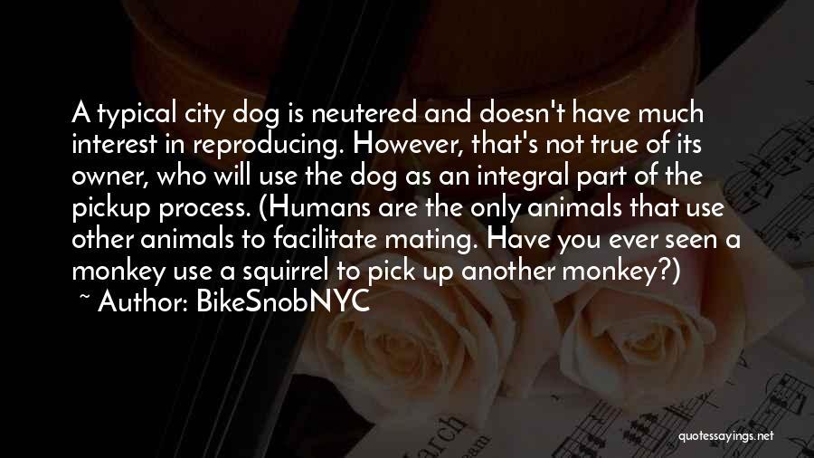 Humans Are Animals Quotes By BikeSnobNYC