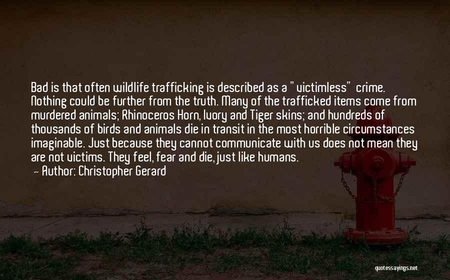 Humans Are Animals Quotes By Christopher Gerard