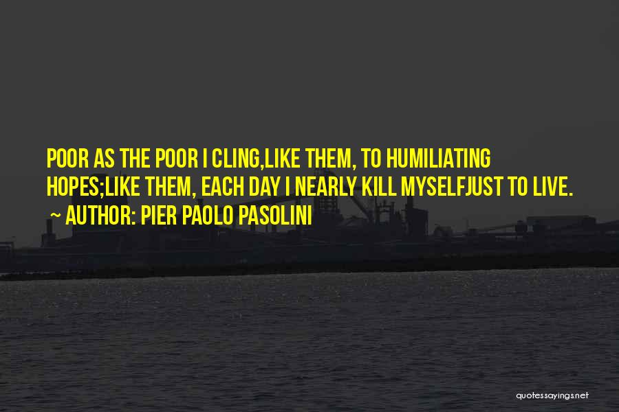 Humiliating Quotes By Pier Paolo Pasolini