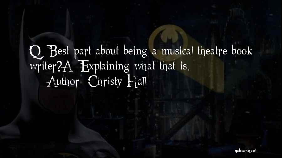 Humorous Book Quotes By Christy Hall