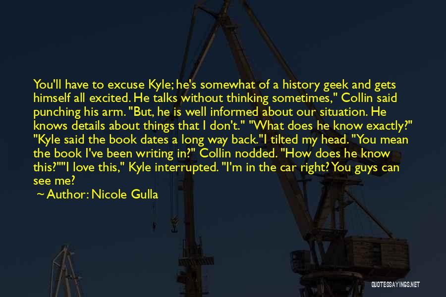 Humorous Book Quotes By Nicole Gulla