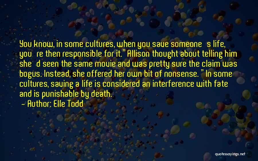 Humorous Death Quotes By Elle Todd