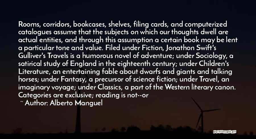 Humorous Library Quotes By Alberto Manguel