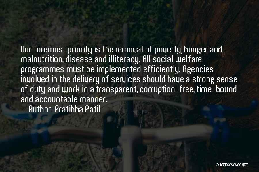 Hunger And Malnutrition Quotes By Pratibha Patil