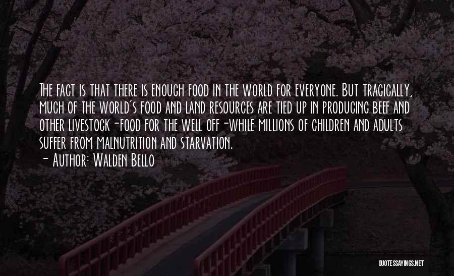 Hunger And Malnutrition Quotes By Walden Bello