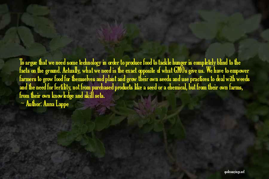 Hunger For Knowledge Quotes By Anna Lappe