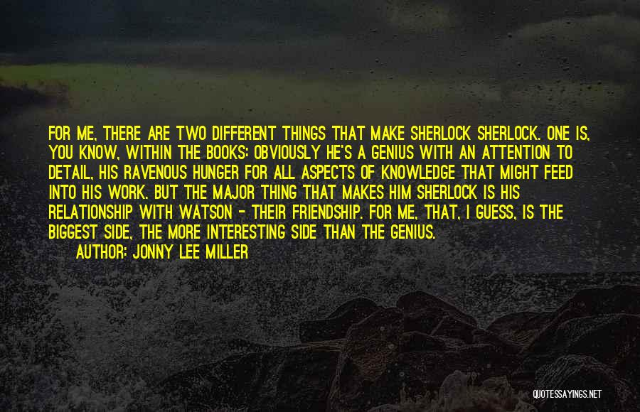Hunger For Knowledge Quotes By Jonny Lee Miller