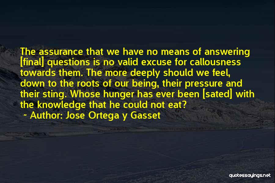 Hunger For Knowledge Quotes By Jose Ortega Y Gasset