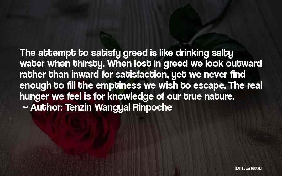 Hunger For Knowledge Quotes By Tenzin Wangyal Rinpoche