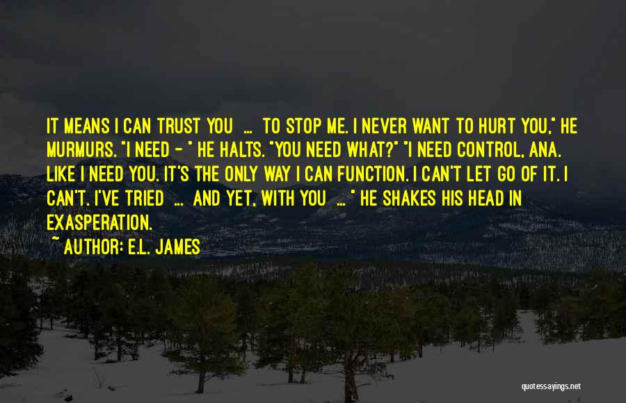 Hurt In Trust Quotes By E.L. James