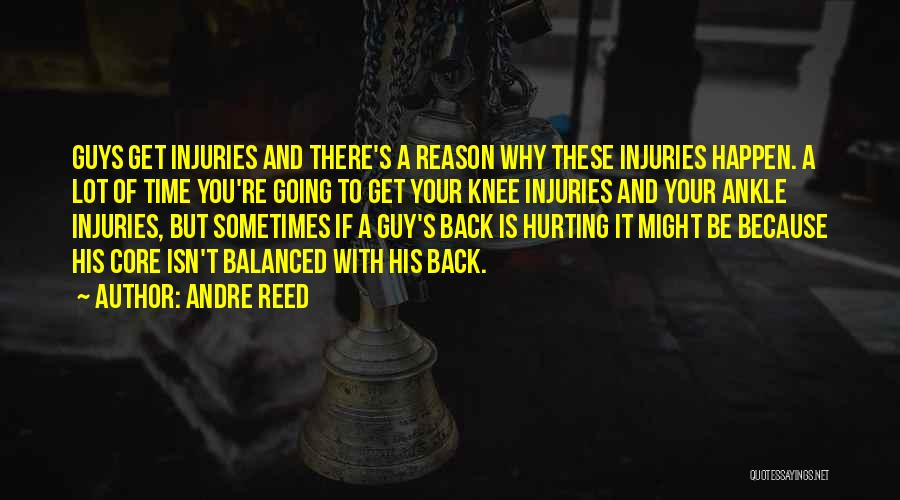 Hurt Knee Quotes By Andre Reed