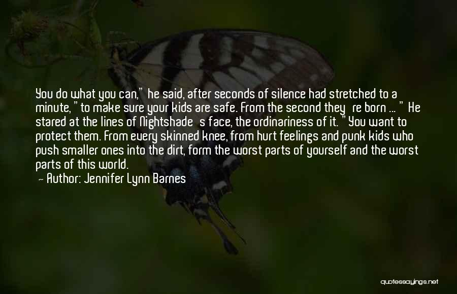 Hurt Knee Quotes By Jennifer Lynn Barnes